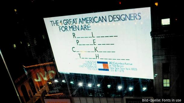 Ein Billboard - viel space