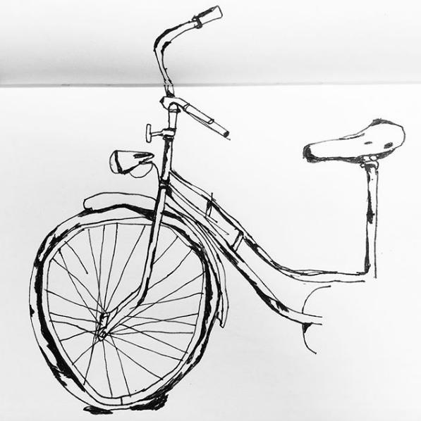 En punkterad cykel, tyvärr min.