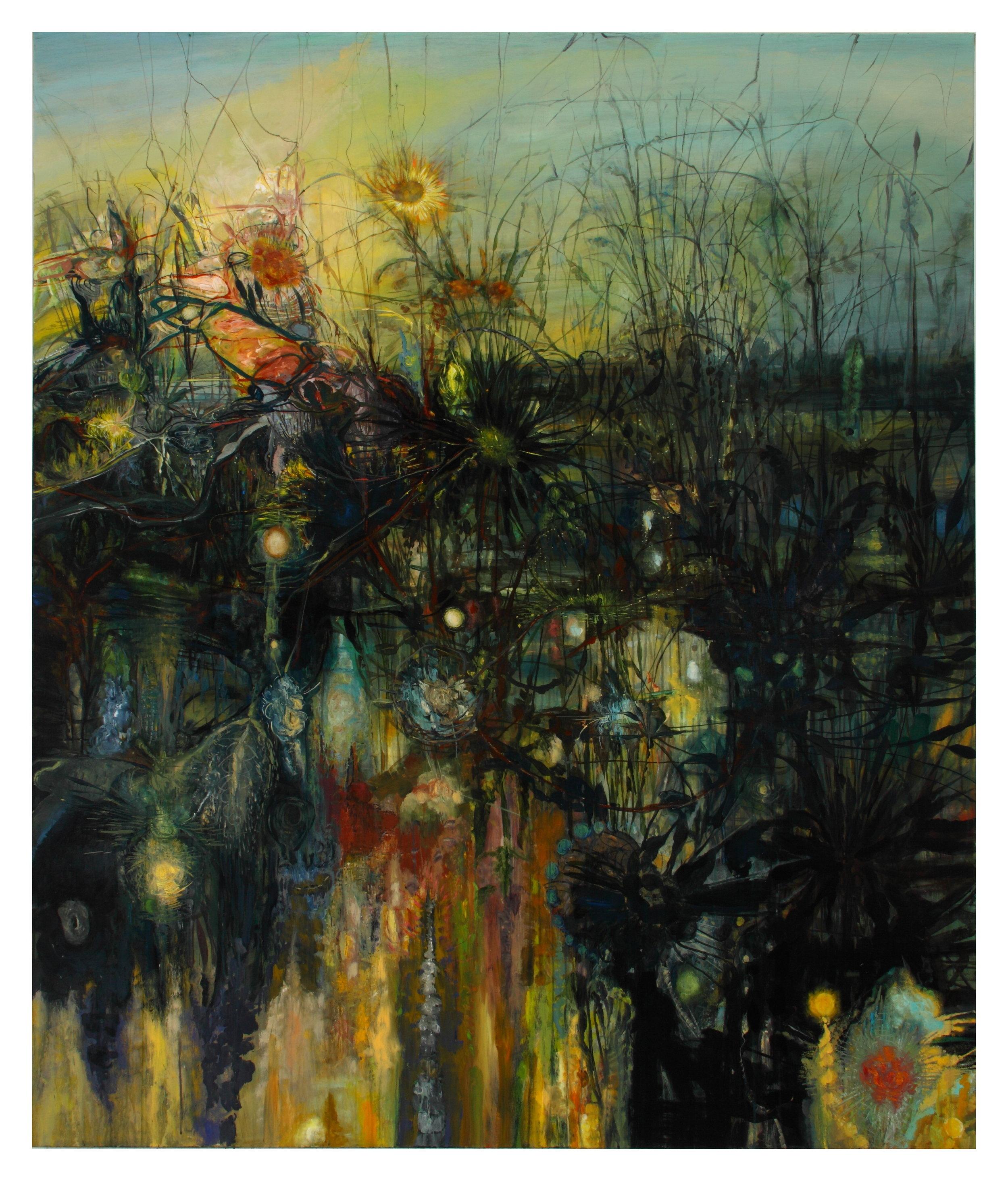 E. Dark Engine, 2010, 78 x 66, acrylic on canvas.JPG