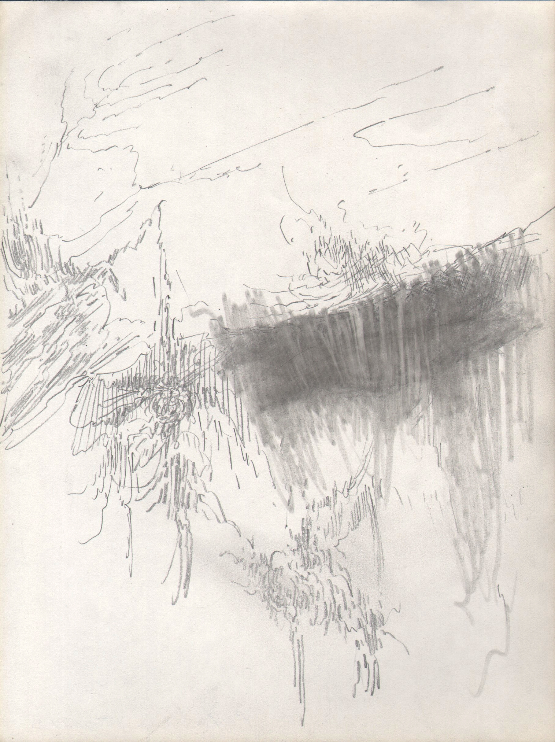 Vapor Trails, 2015, 8 x 6 inches, pencil on paper