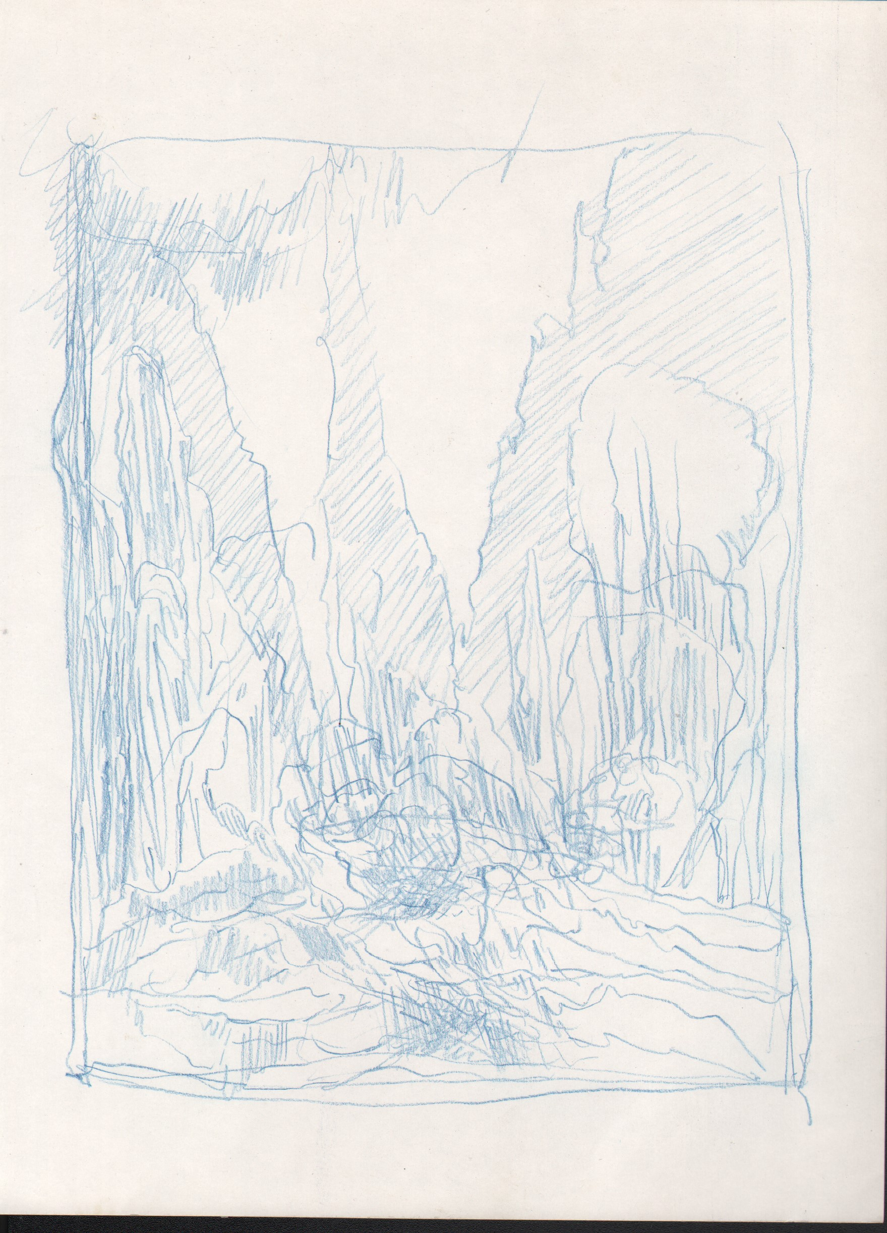 Campfire by Green Giants, 2015, 8 x 6 inches, pencil on paper