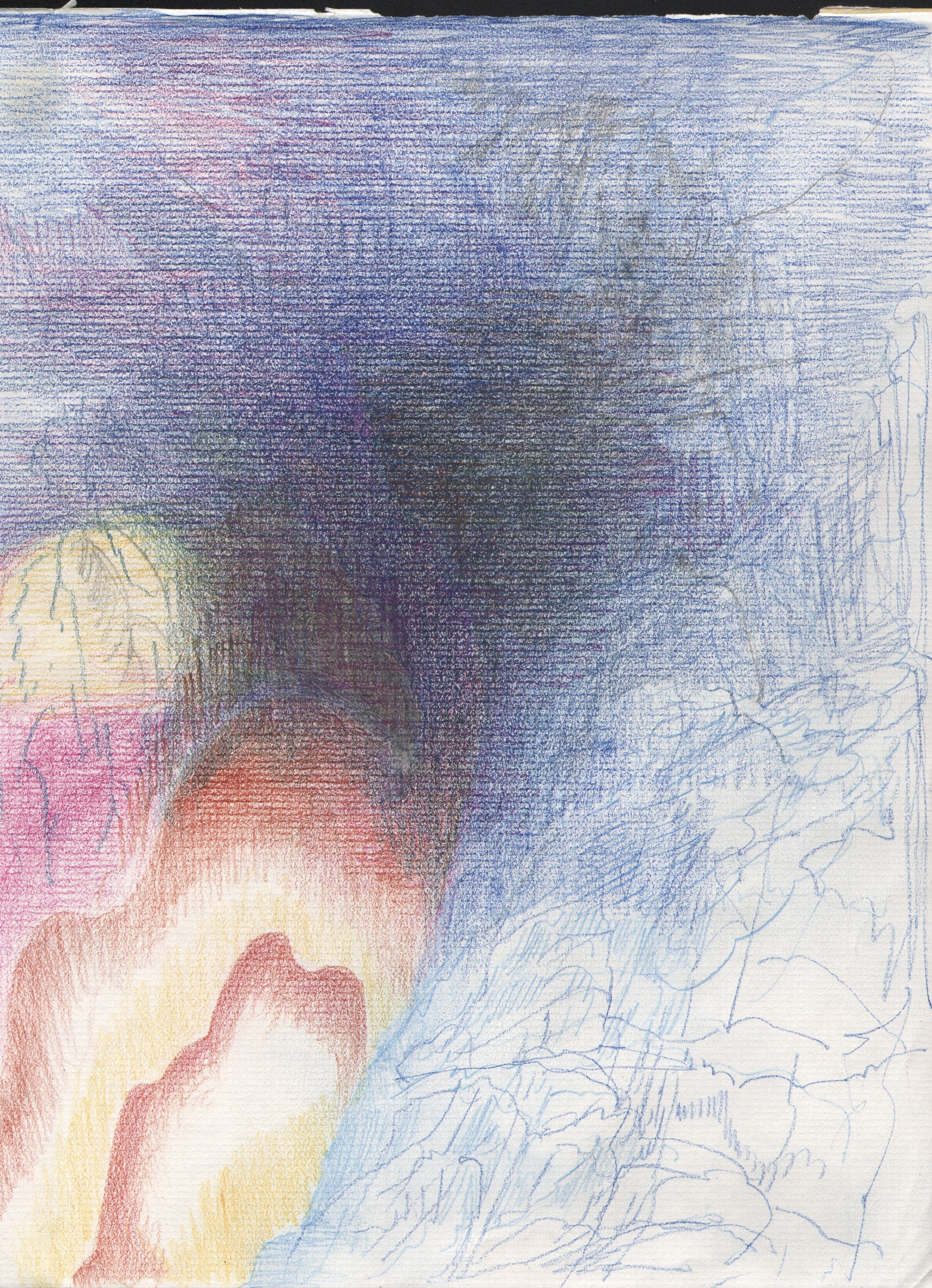 Edge of Night, (2), 12 x 9 inches, pencil on paper