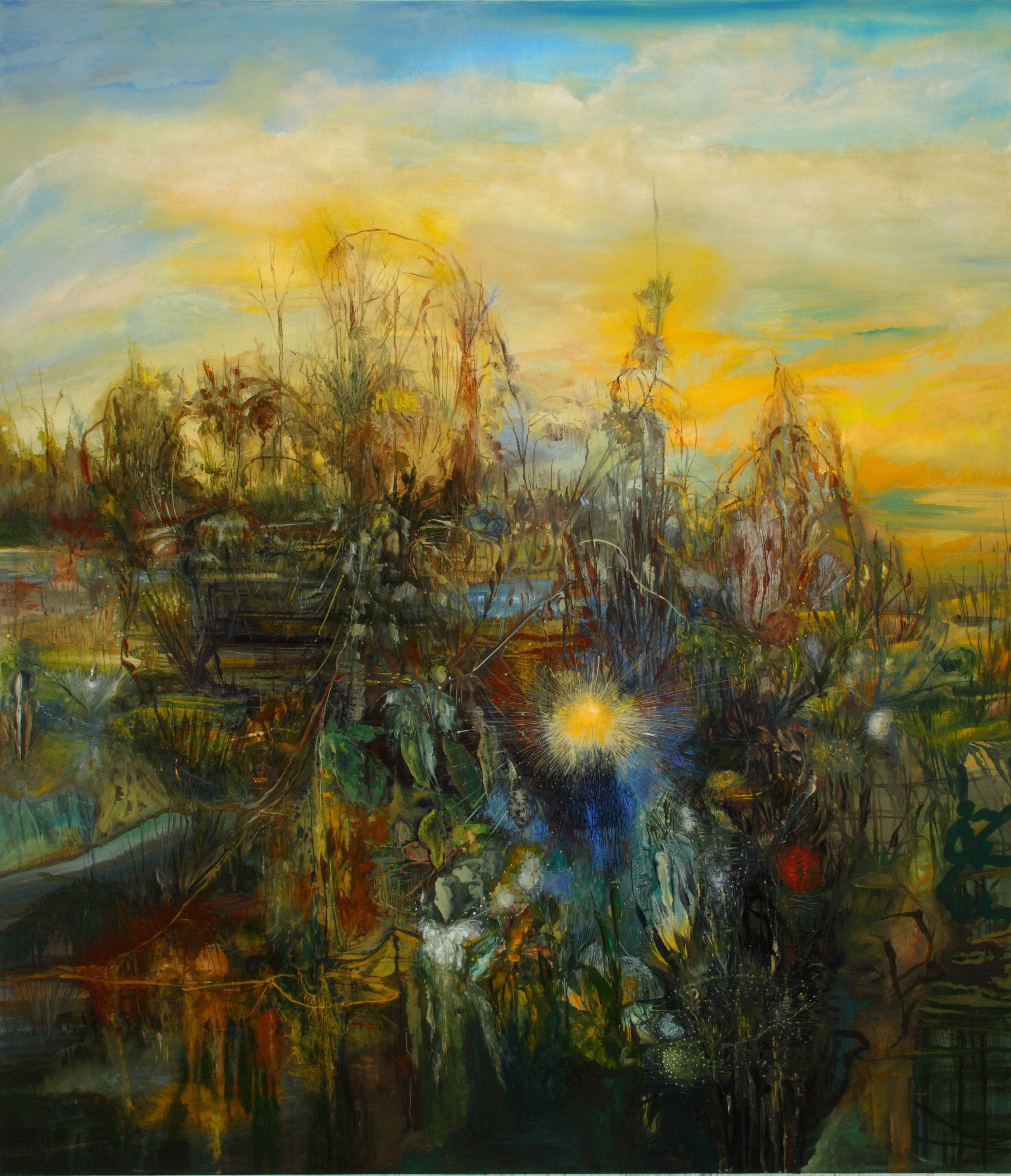 Shaggy Land, 2011, 78 x 66 inches, acrylic on canvas
