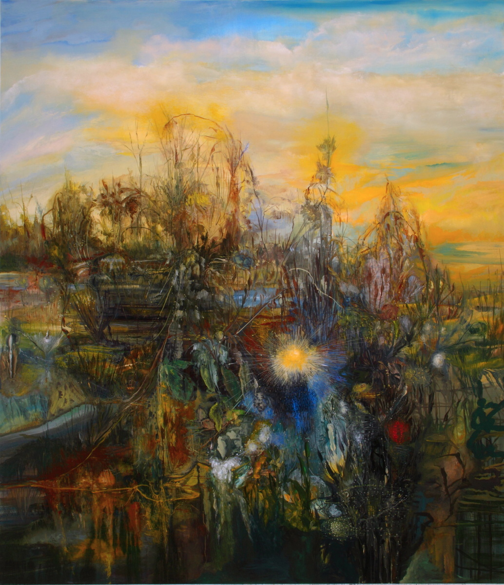 Shaggy Land, 2010, 78 x 66 inches, acrylic on canvas