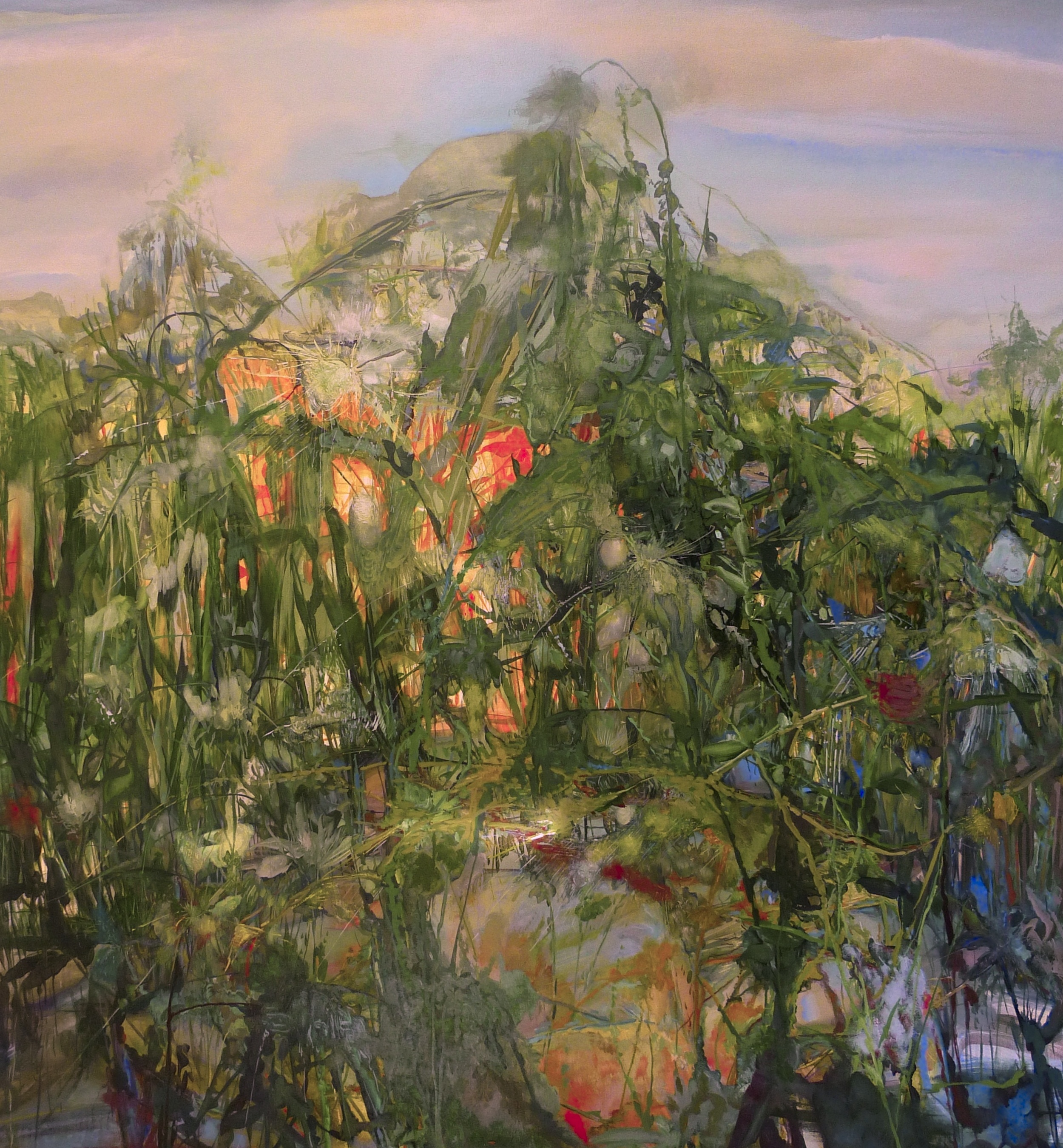 8. Interpetation of Events by the Reeds, 2015, 72 x 66 inches, acrylic on canvas.jpg