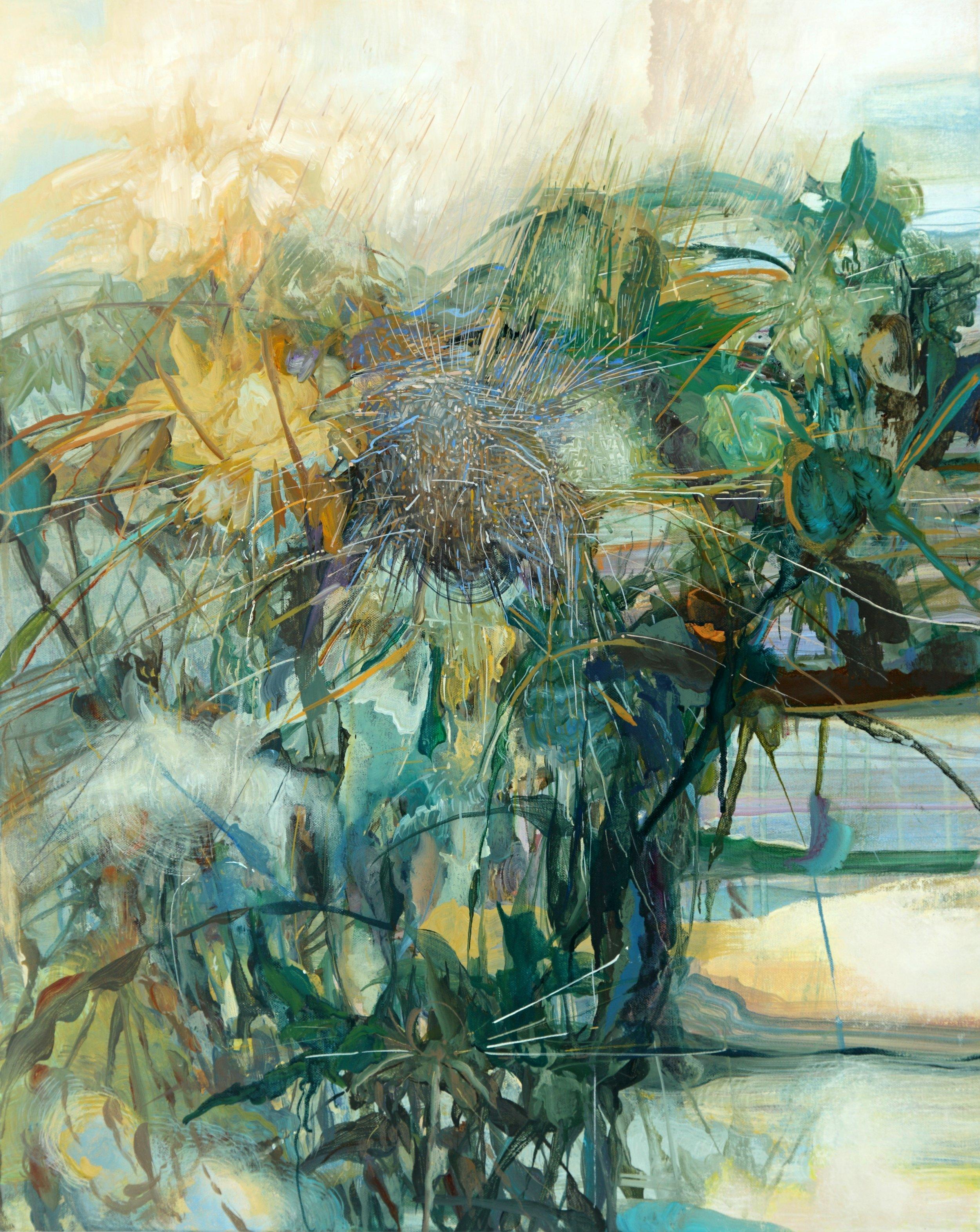 2. Spectral, wind and rain, 2014, 30 x 24 ins. acrylic on canvas.jpg