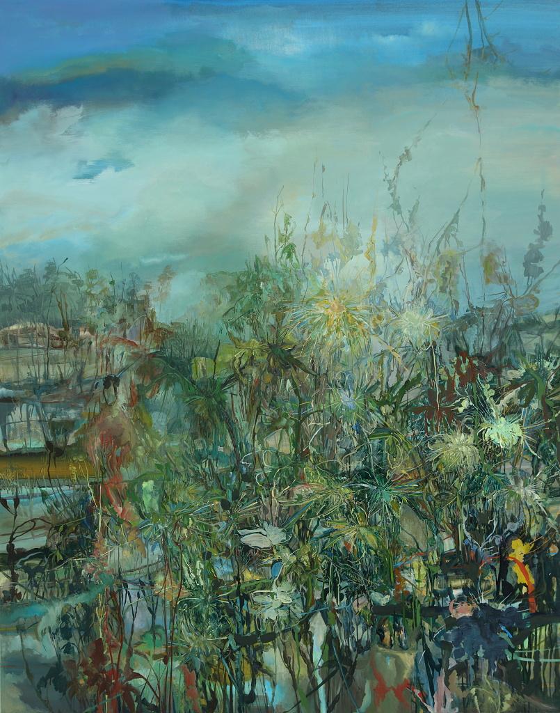 9. Close Rain, 2012, 84 x 66, acrylic on canvas.JPG