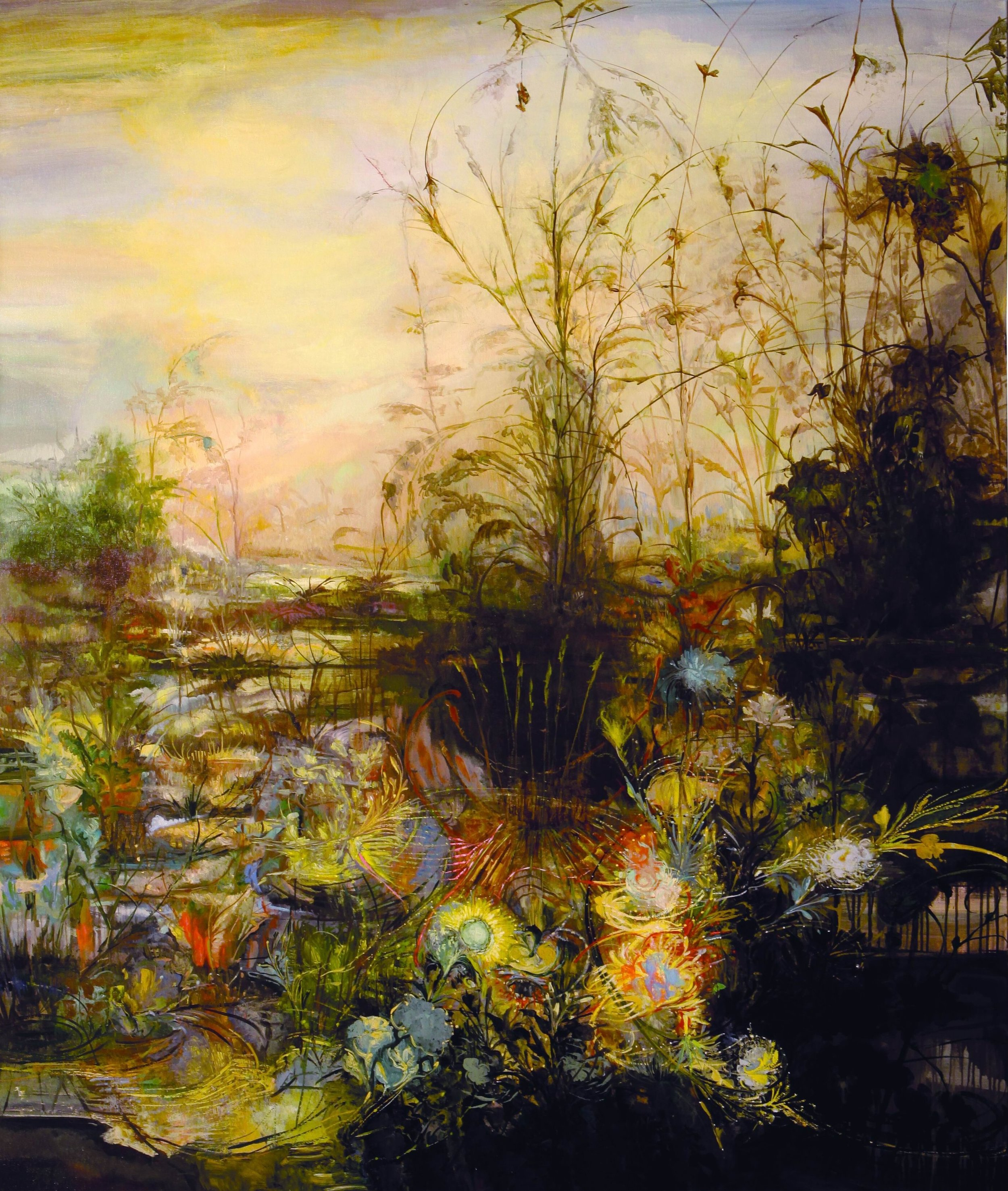 Swamp Field, Late October, 2008, 78 x 66 inches, acrylic on canvas