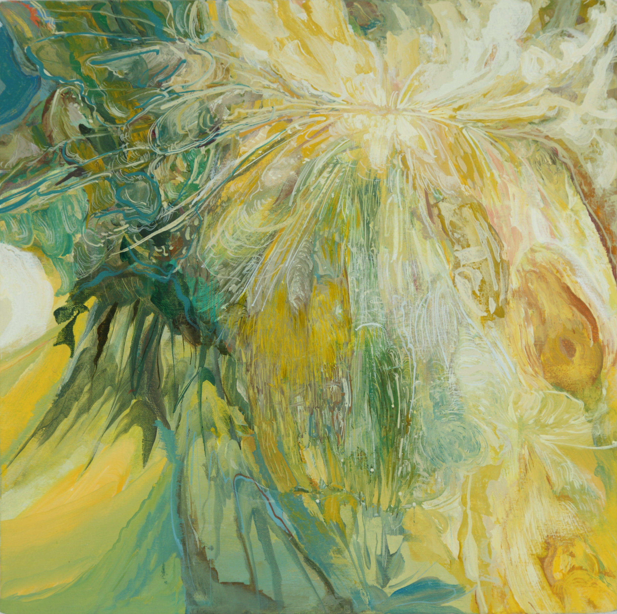 Swirl Lab,  2013, 18 x 18 inches, acrylic on canvas