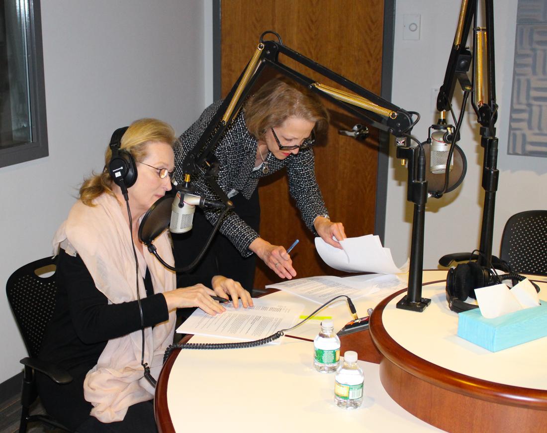 Karyl directing Meryl Streep