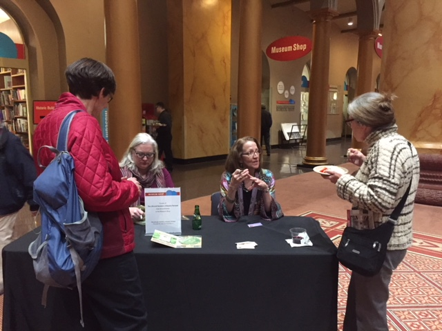 Karyl Evans signing DVDs at the National Building Museum