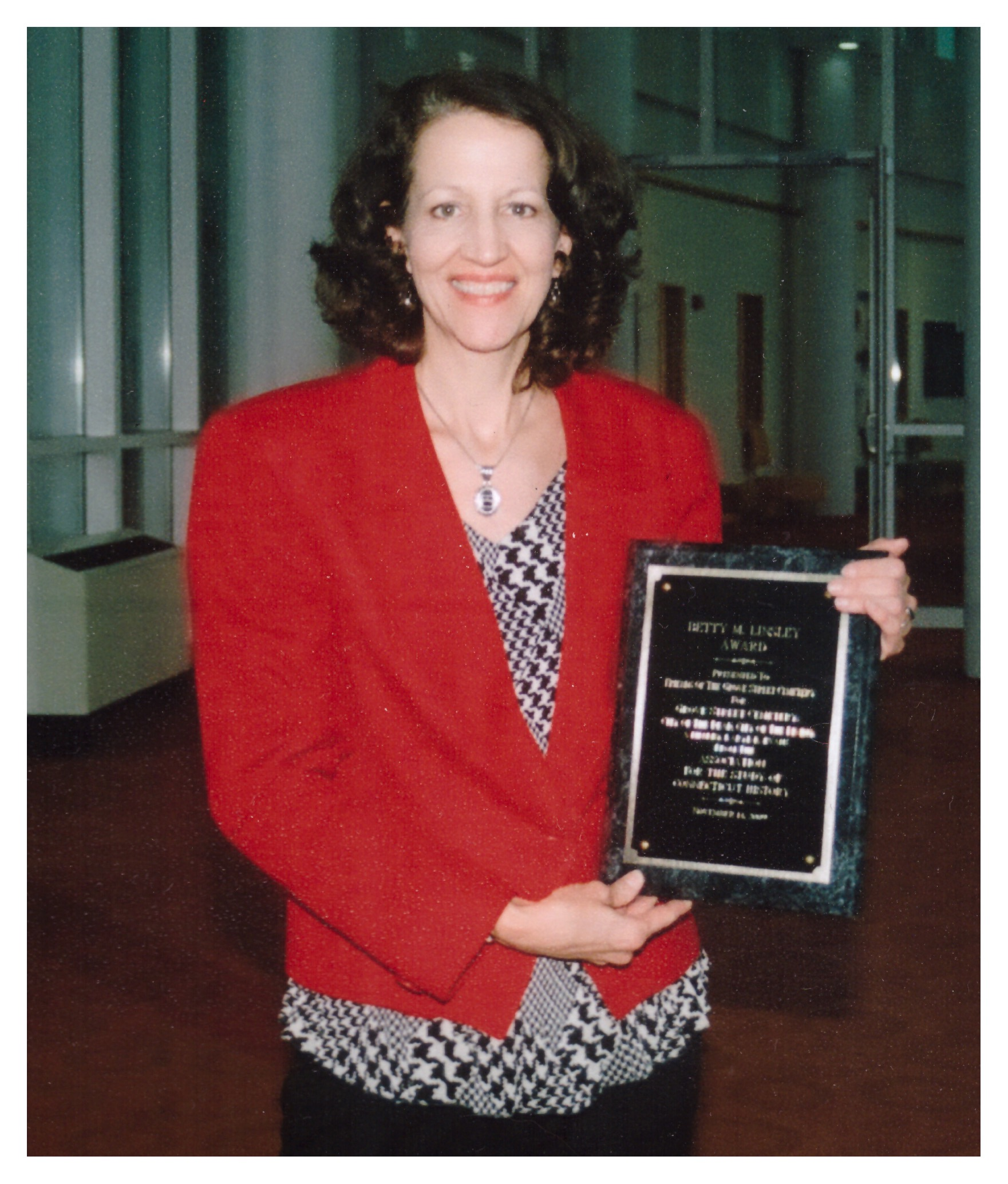 Karyl Evans wins Linsley Award from the Association for the Study of Connecticut History 2009