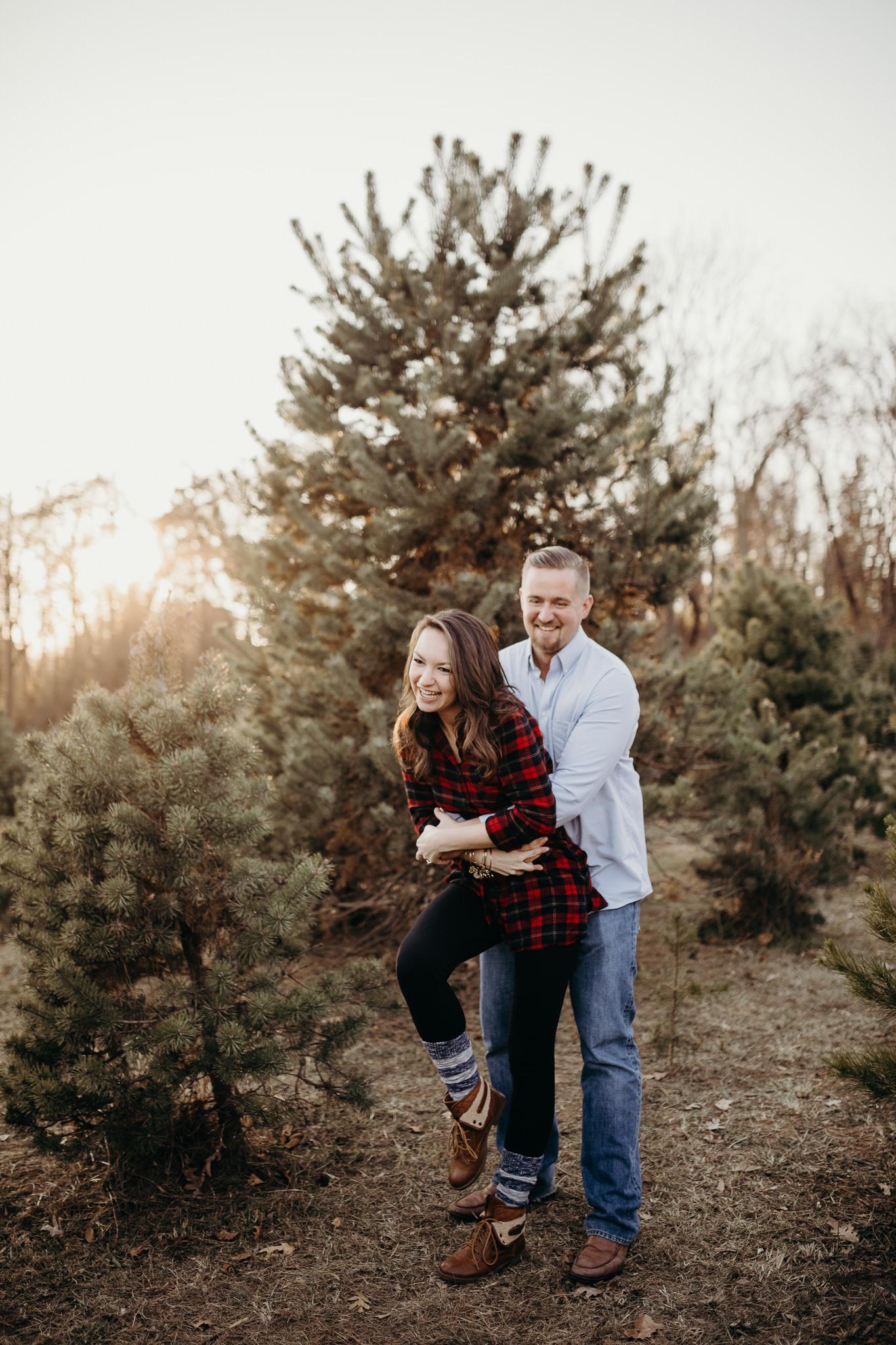 Engagement - Tree picking - Wedding Photographer - Virginia - Best - Pat Cori Photography-24.jpg