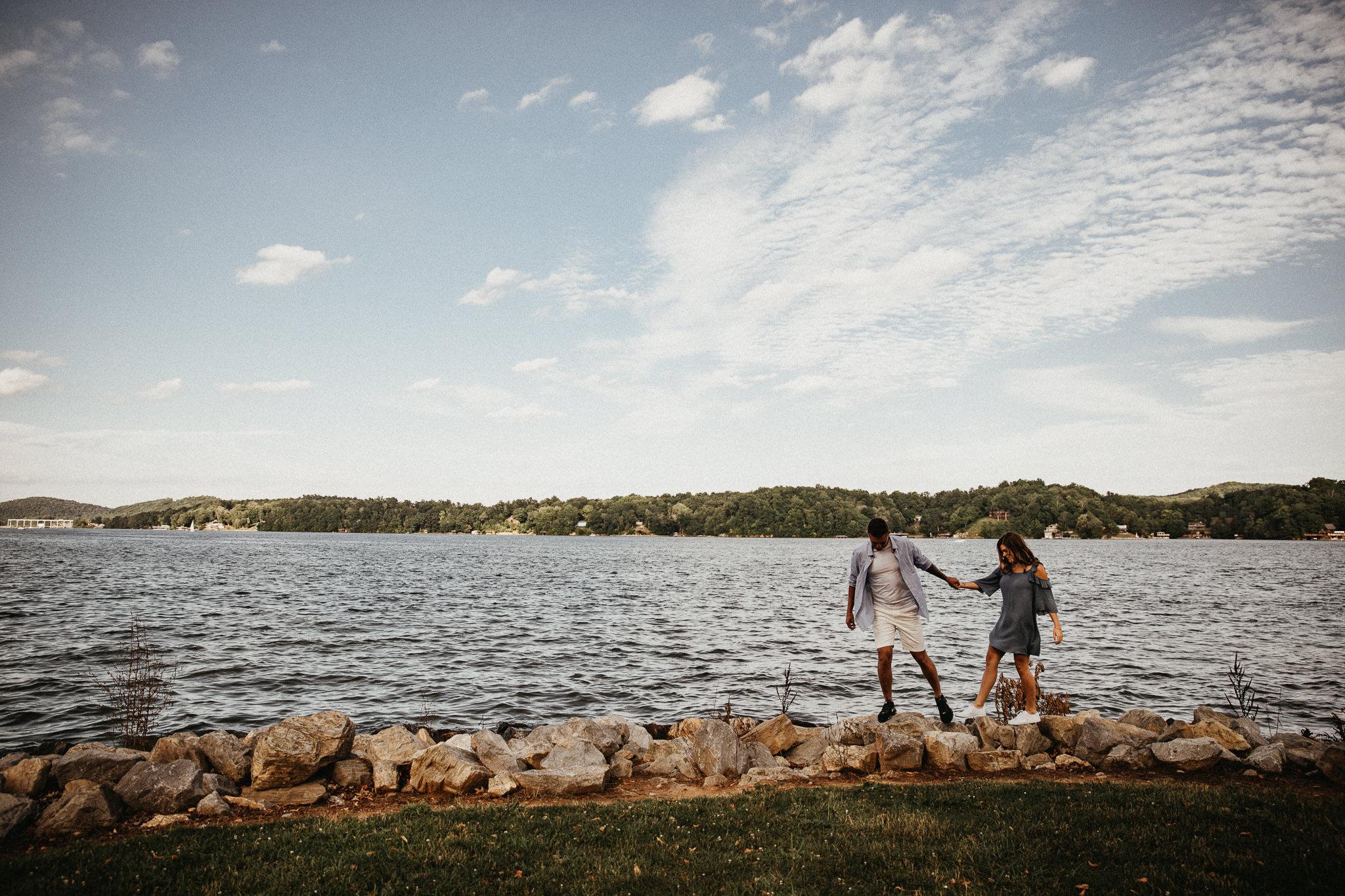 Claytor Lake State Park - Engagement portraits - Virginia wedding photographer - Pat Cori Photography-17.jpg