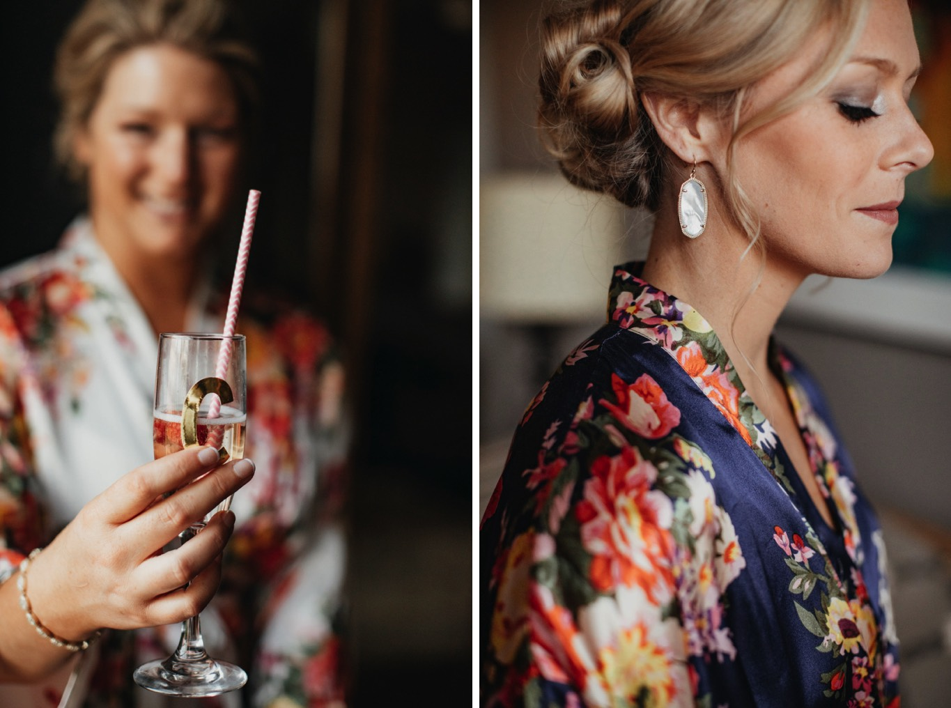 Bridesmaids gifts- Flutes - Earrings - Wedding details