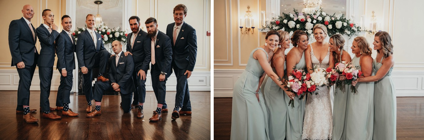 Wedding party pictures - Patrick Henry Ballroom