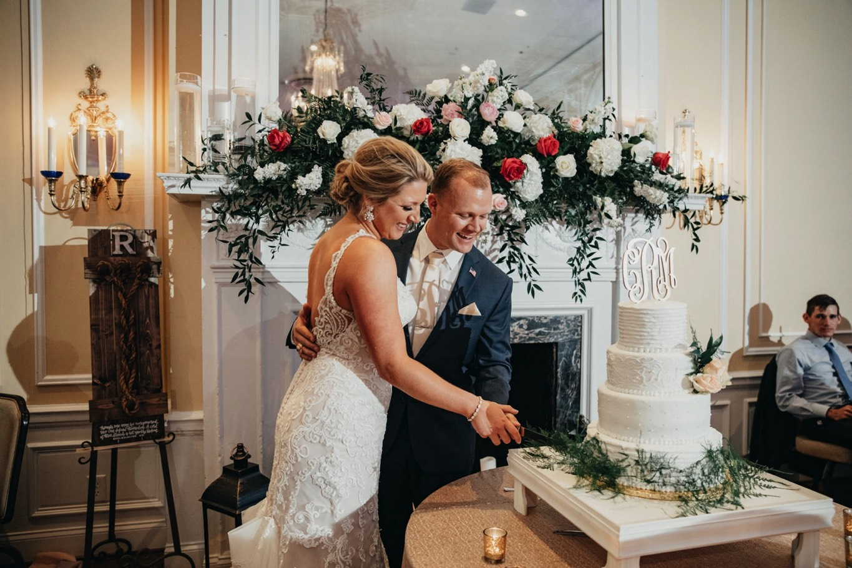 Patrick Henry Ballroom - Cutting Cake - Pat Cori Photography
