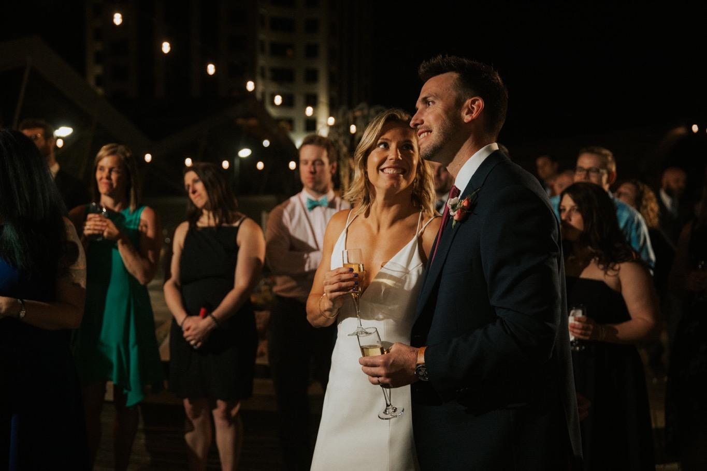 81_The Penthouse - Pat Cori Photography - Virginia Wedding Photographer-162_thepenthouse_Wedding_toasts_roanoke_reception_rooftop.jpg