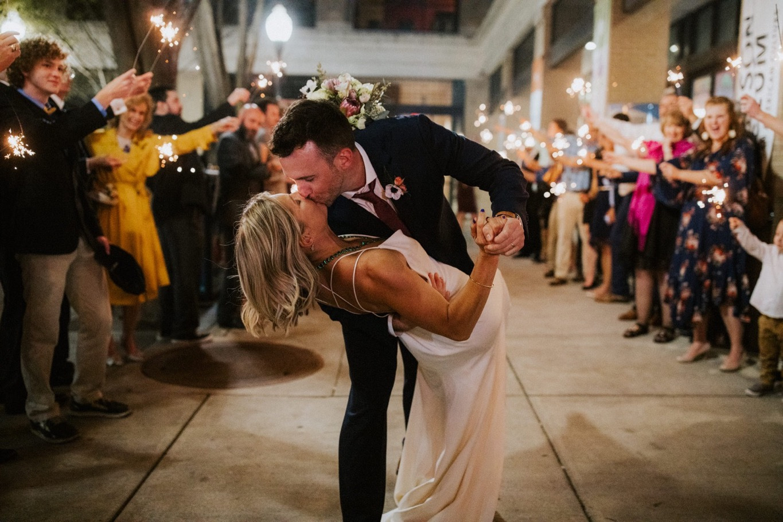 91_The Penthouse - Pat Cori Photography - Virginia Wedding Photographer-181_Sparklerexit_rooftop_roanoke_downtown_thepenthouse_Wedding.jpg