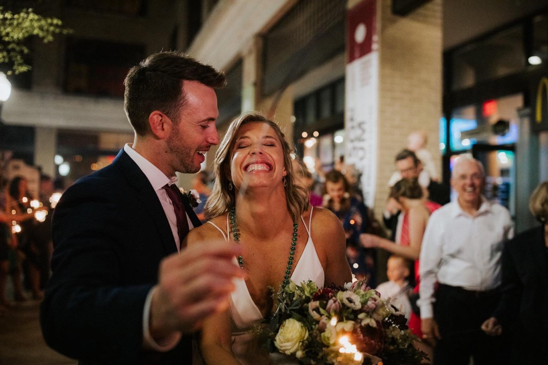 92_The Penthouse - Pat Cori Photography - Virginia Wedding Photographer-182_Sparklerexit_rooftop_roanoke_downtown_thepenthouse_Wedding.jpg