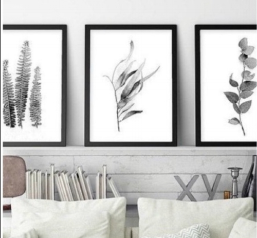 1. Prints and Floral ~ photo via @etsy - Keep it simple by framing a series of floral prints to hang in place of artwork or go big by doing a whole accent wall in floral wallpaper.