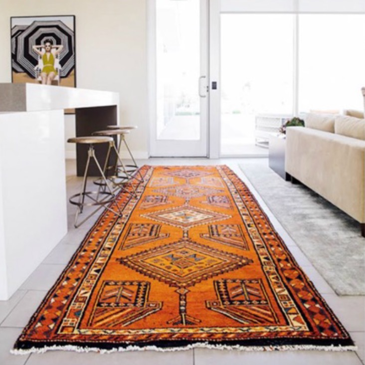 7. Vintage Rugs ~ photo via @pinterest - Lively patterns, vivid colors and items with a story are IN and vintage rugs cover all three bases!