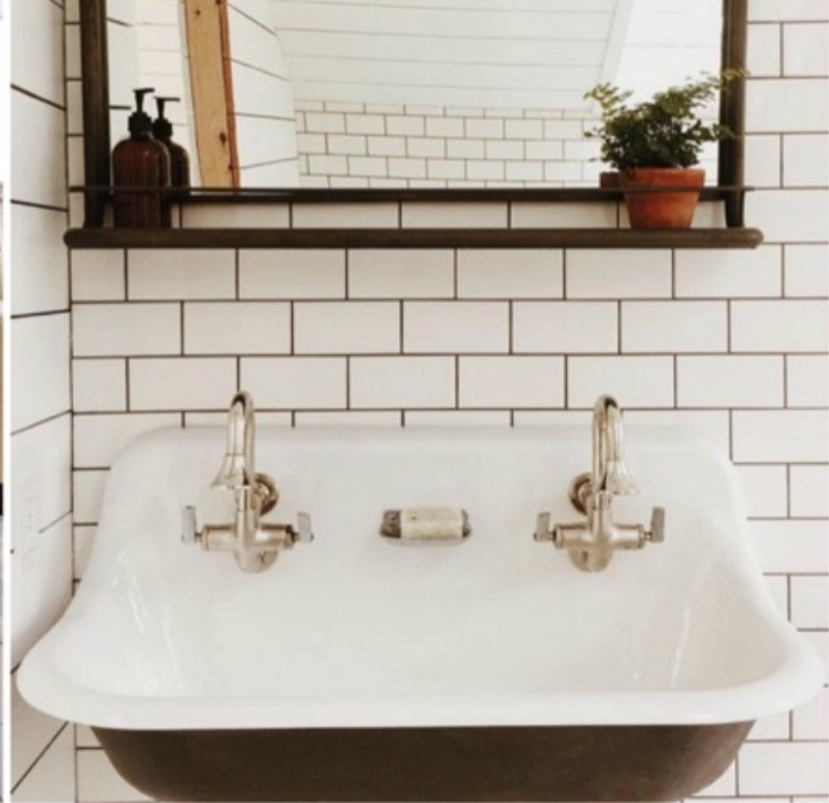 8. Trough Style Sinks ~ photo via @saraparsons - They maximize minimal space and are oh so very chic!