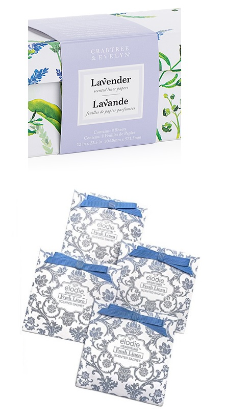 Stay fresh... - Add scented liners or perfume sachets in-between your winter duvets and flannel sheets before you pack them away for the warmer months, this will keep them fresh for when you need them again. We love Crabtree & Evelyn or Elodie Essentials. PRO TIP: Traveling? Add a few to your luggage before or after a trip to make your clothes stay fresh and your luggage crisp.