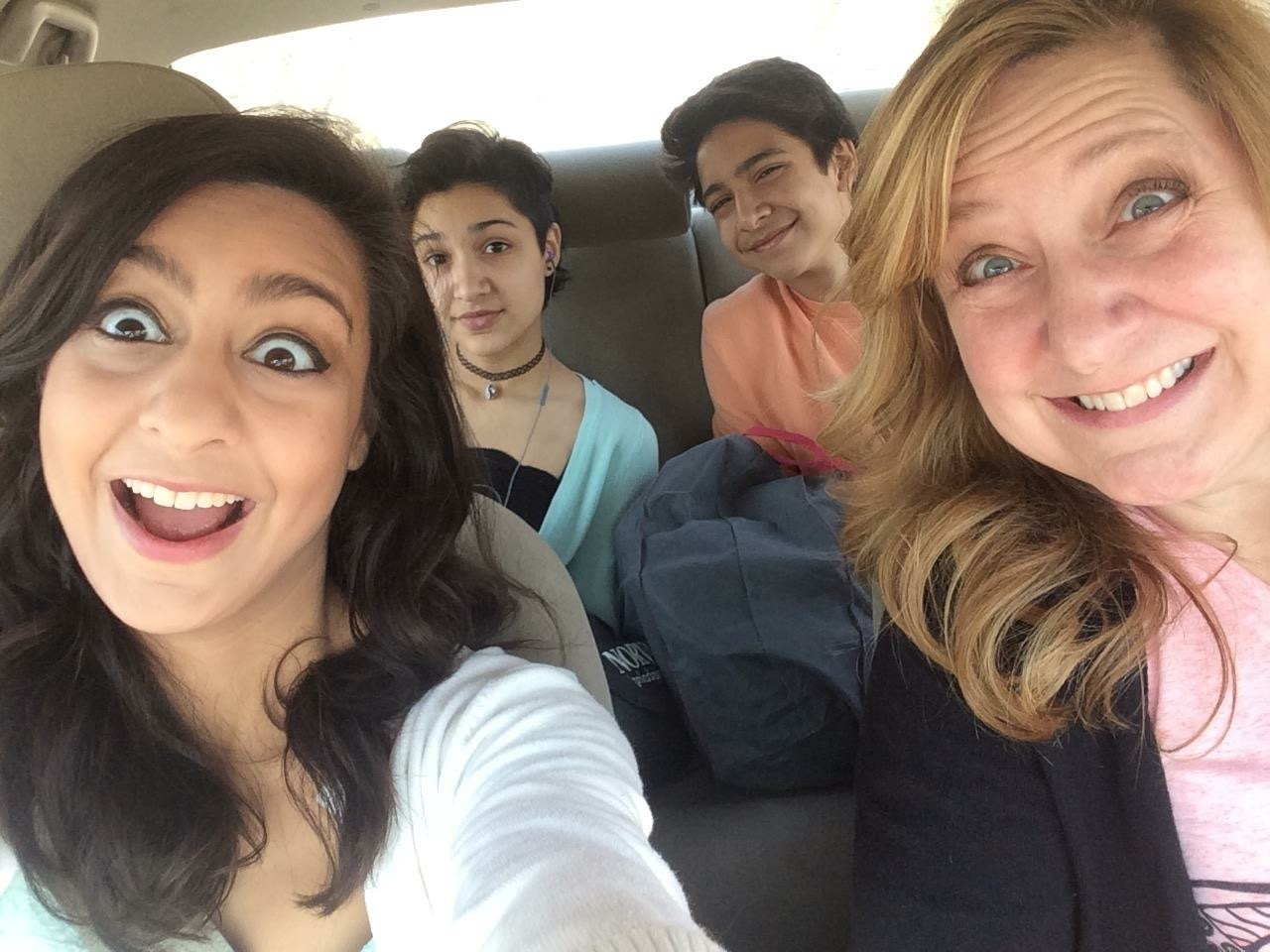 What are some things that reflect your identity?  A photo with me and my kids being funny in the car.