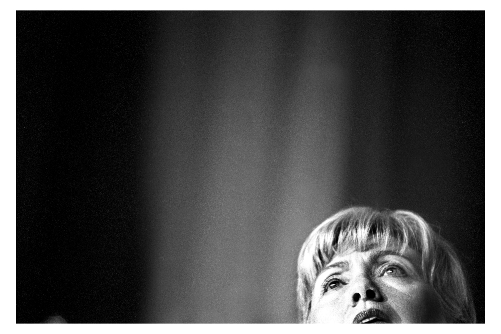 What are some things that reflect your identity? I've got Hillary in here as reflecting my identity...the whole female, glass ceiling thing. I took the photo for The Washington Post.