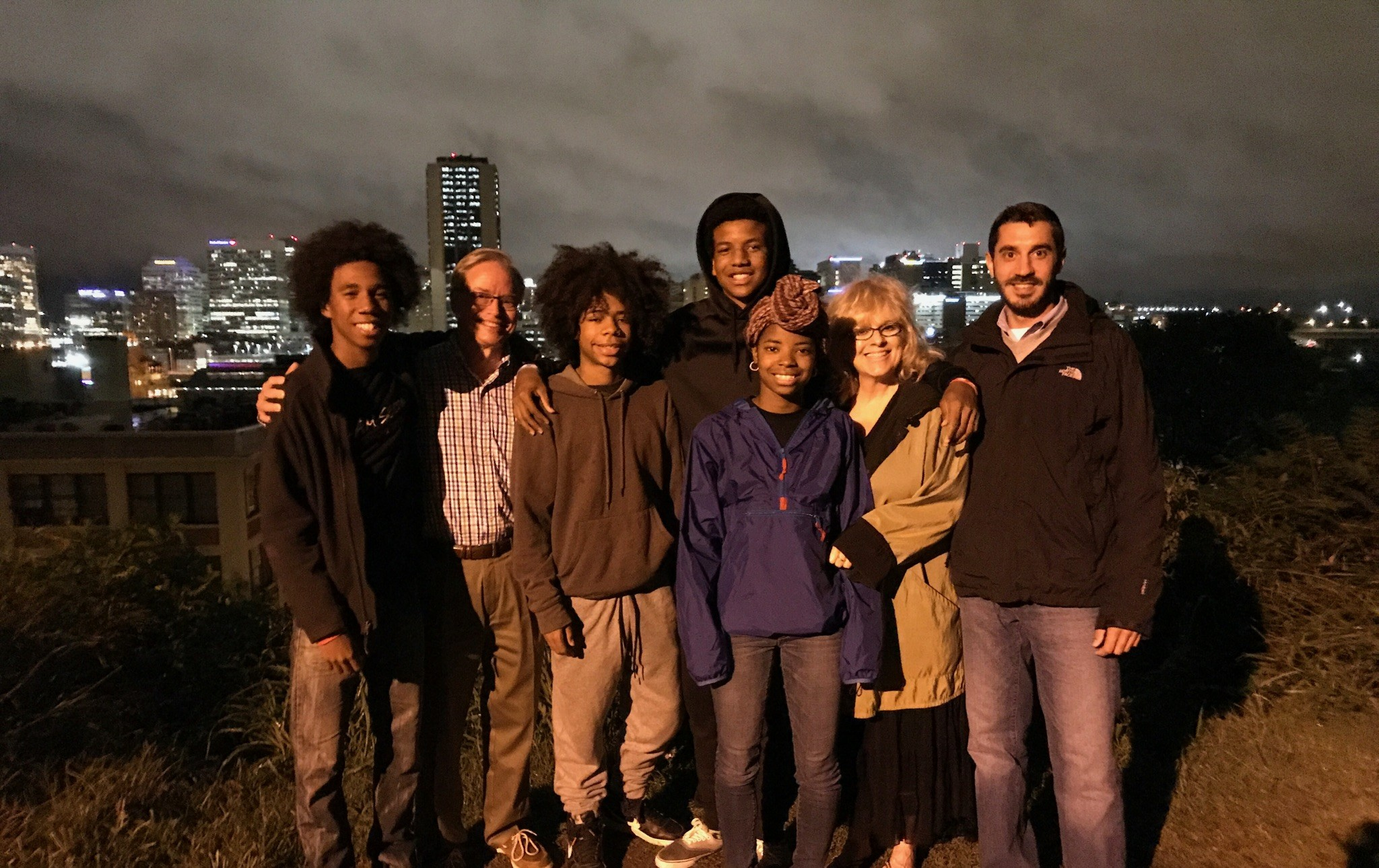 This is a picture of me with some of my Mosby Court kids, at Richmond Hill, overlooking the City, after one of our Tuesday night prayer meetings.