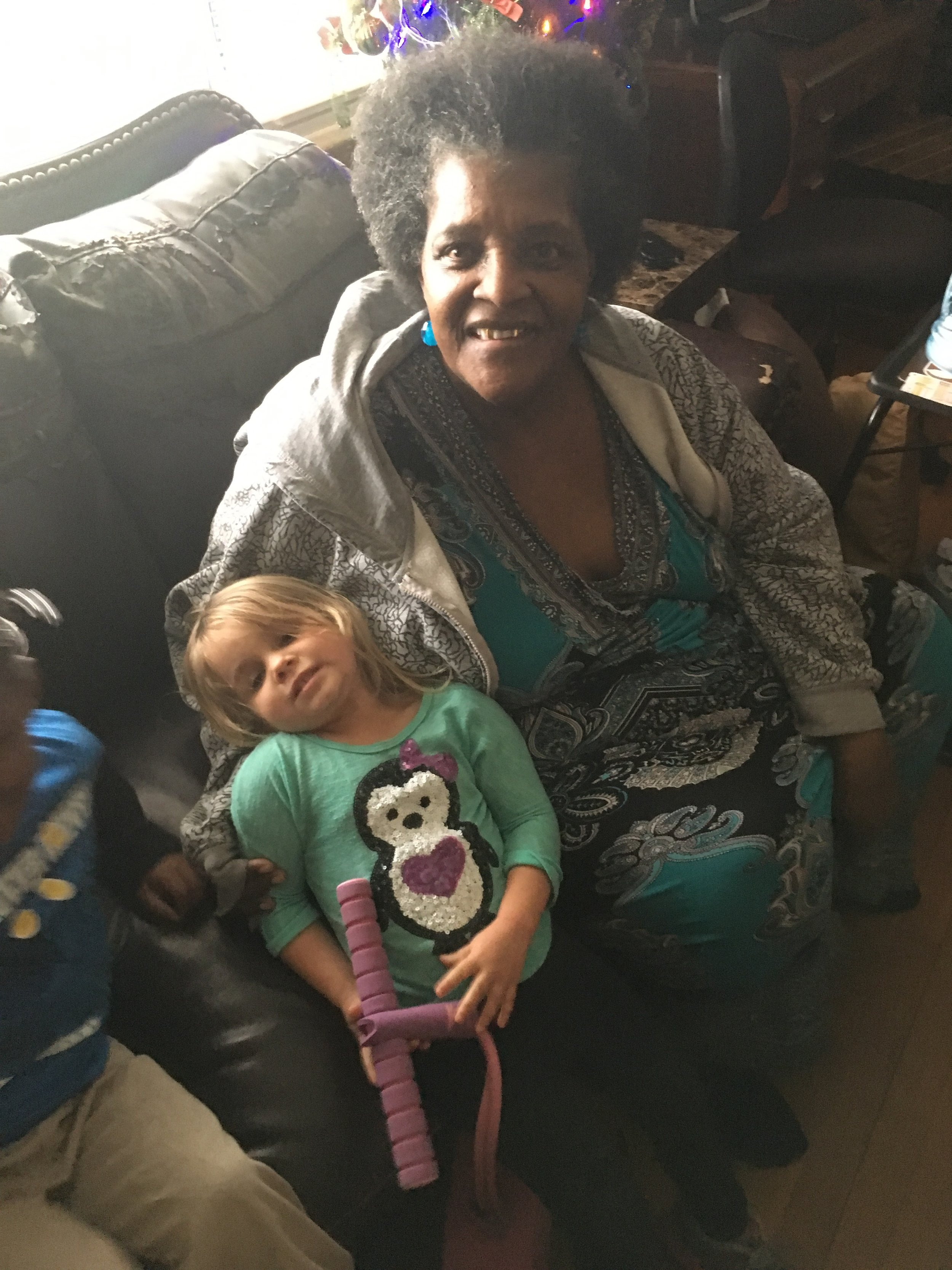"""This is Ruth   """"Granny"""", with my daughter Ruby. Ruth considers all of my children her   grandchildren."""
