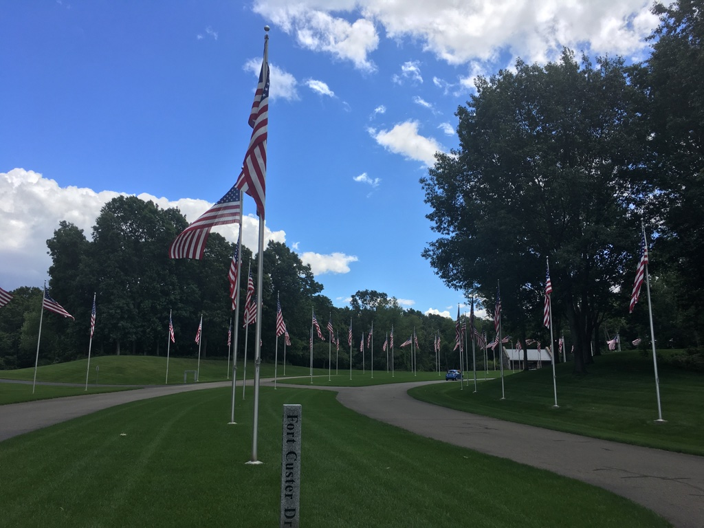 How I see my community: Fort Custer National Cemeteryon Dickman Road- remembering those who have serviced the U.S.A. - we cannot ever forget. Having driven for many years past the cemetery, I had a reason to go inside this year. It is very   humbling to be there.