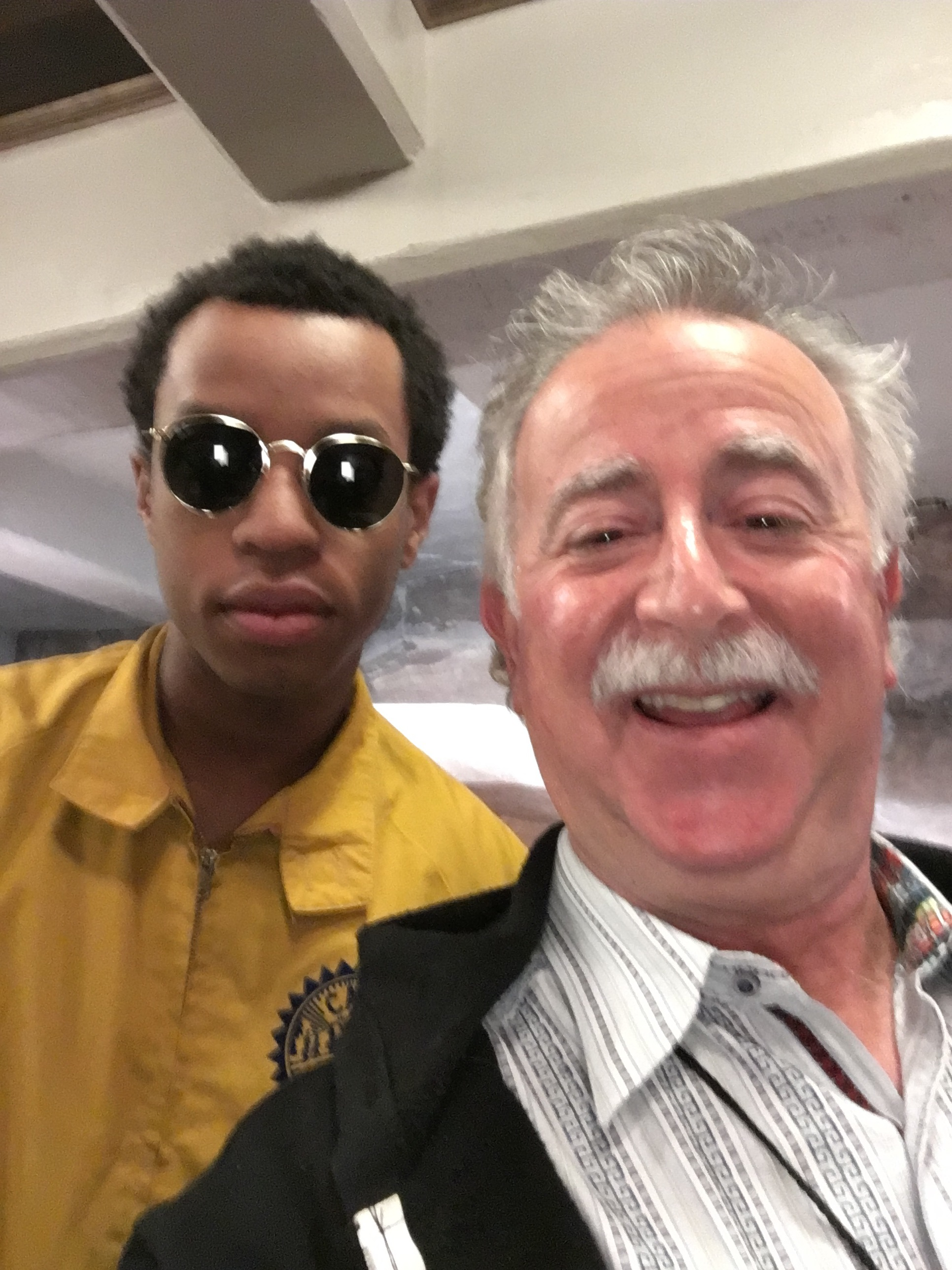 Selfie with Pell,  real name Jared Pellerin, hip hop artist from New Orleans. Taken backstage at  Redrocks Amphitheatre. He is exceptionally talented and was opening for Big  Gigantic (my son's group) at Rowdytown V