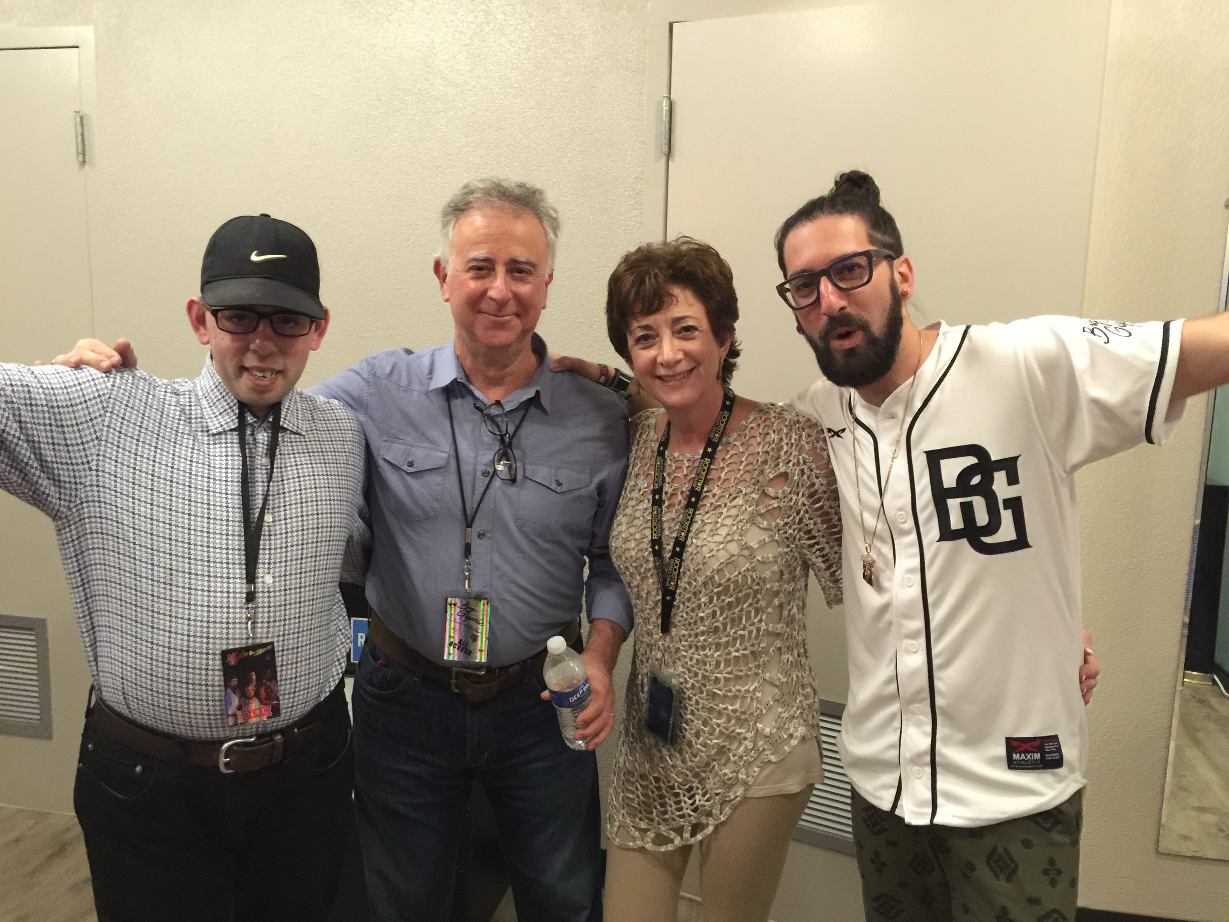 Our family unit backstage at Rowdytown IV. Herbie, Me, Melanie, and Jeremy. Clearly, family has become the most important aspect of my life.