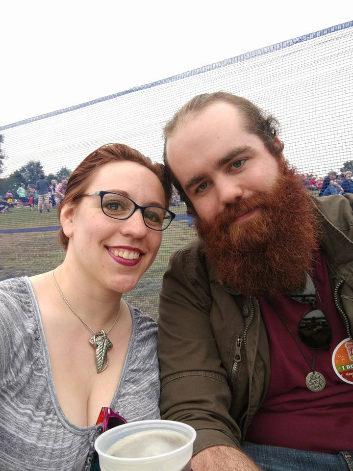Things that matter most to me:   Art, acceptance and love for each other, no matter what background. And a place to just come together and hang out to celebrate that. This is a picture of me and my fiancee Stephen at the Richmond Folk Festival; where musicians play folk songs from local and international communities. It's always a   pretty great time. (I would post pictures of the musicians, but I don't have their consent so. It's just us, sorry.)