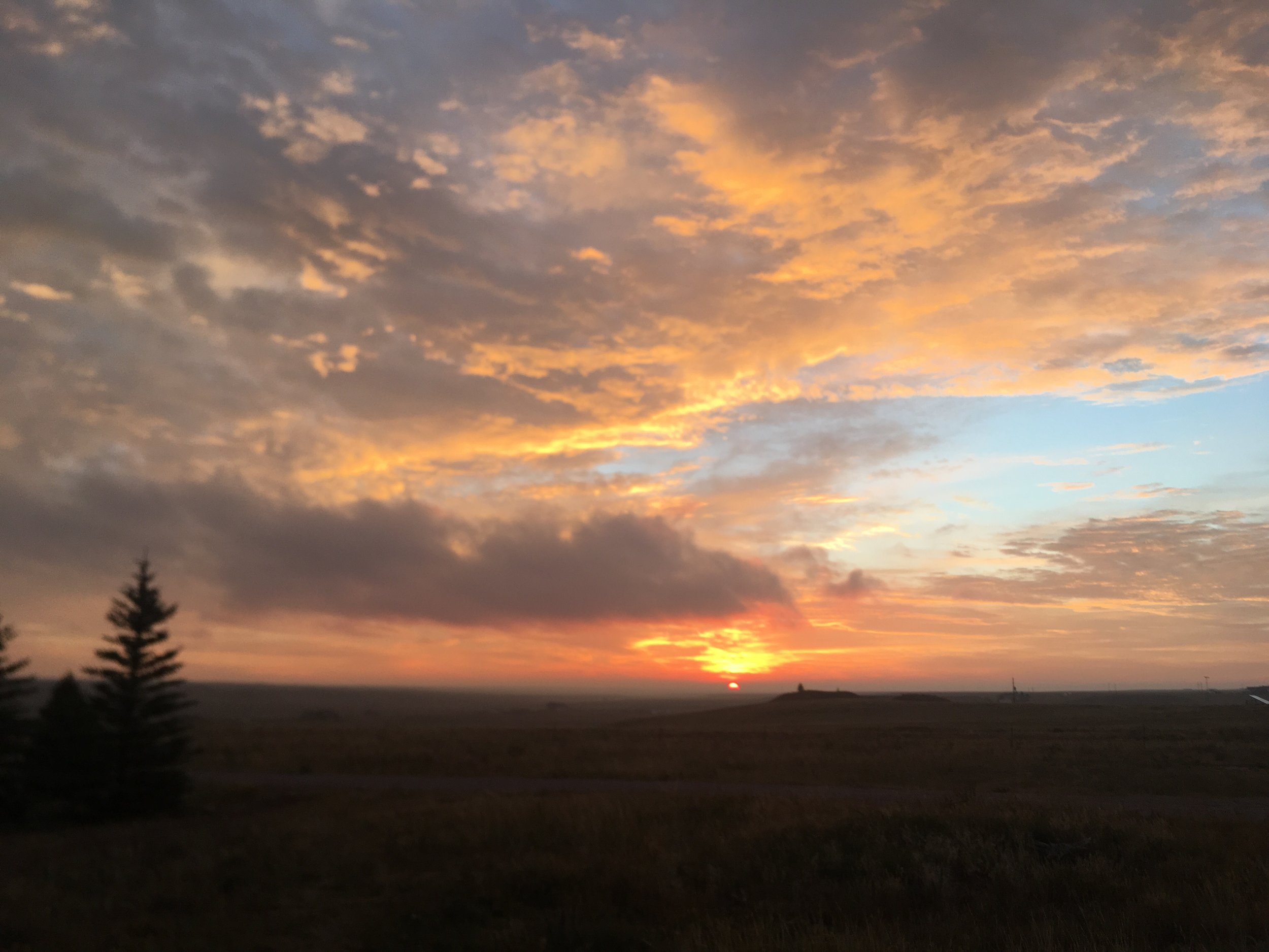 What matters most to me? Our beautiful planet, Wyoming's big gorgeous sky - taken   from my front door west of Cheyenne.