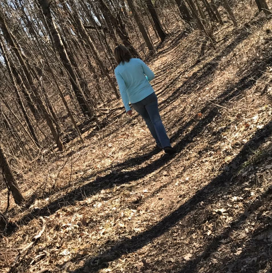 How do you see your self?  This is the picture of my reflecting at the Bird Sanctuary. I go there a lot to hike and rejuvenate. I see myself as a kind and caring woman, mom of 3, reliable friend and