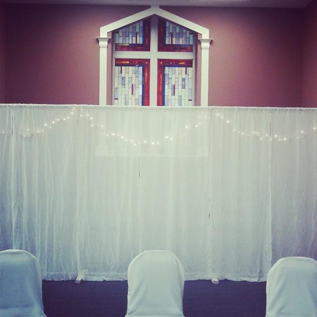 White Curtain Backdrop