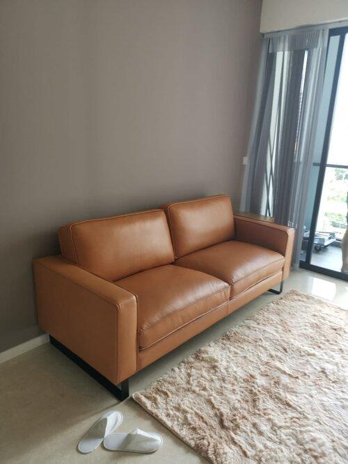 Softline Leather Fabric Sofa, Soft Line Leather Sofa