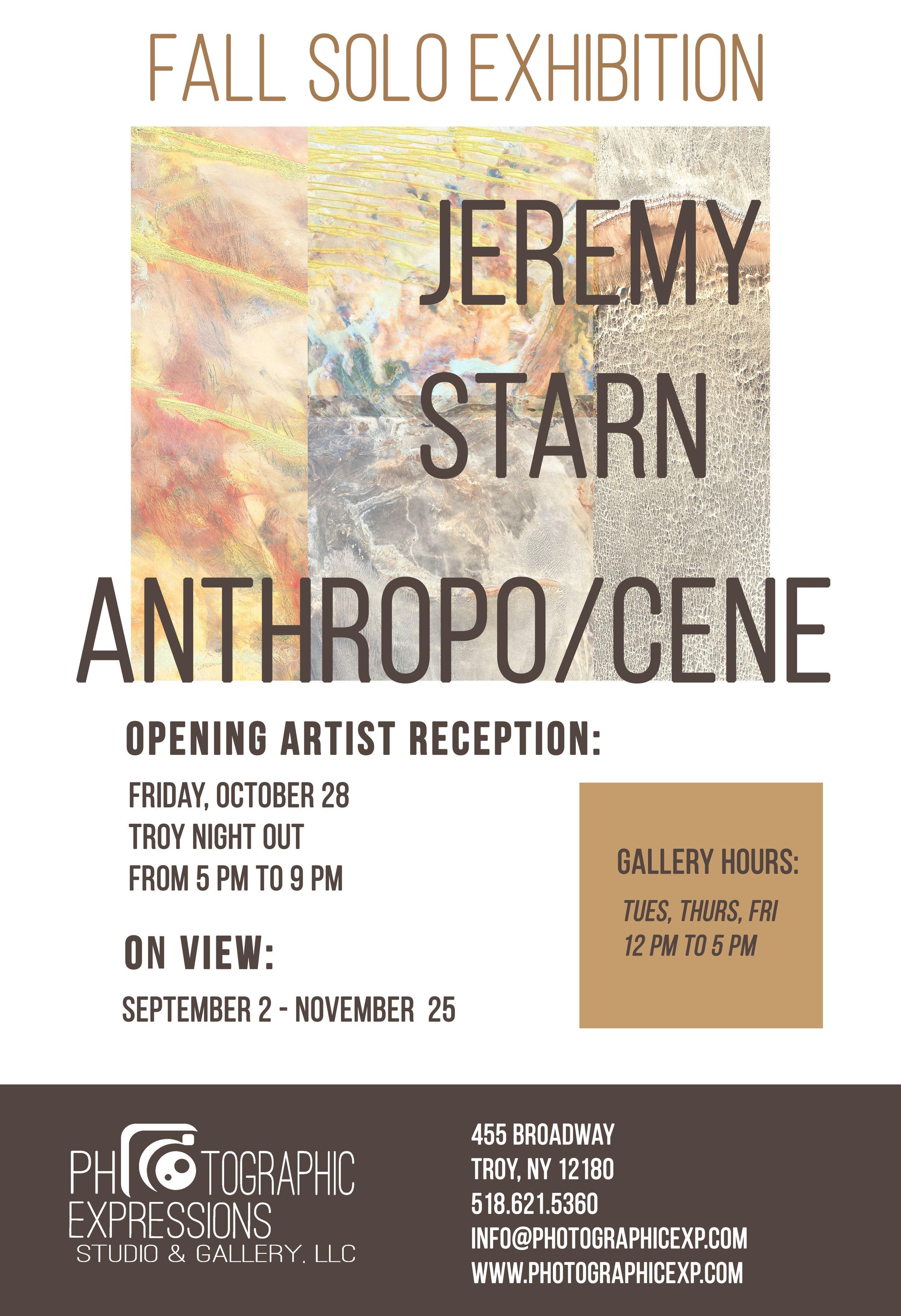 FALL SOLO EXHIBITION: Jeremy Starn, ANTHROPO/CENE