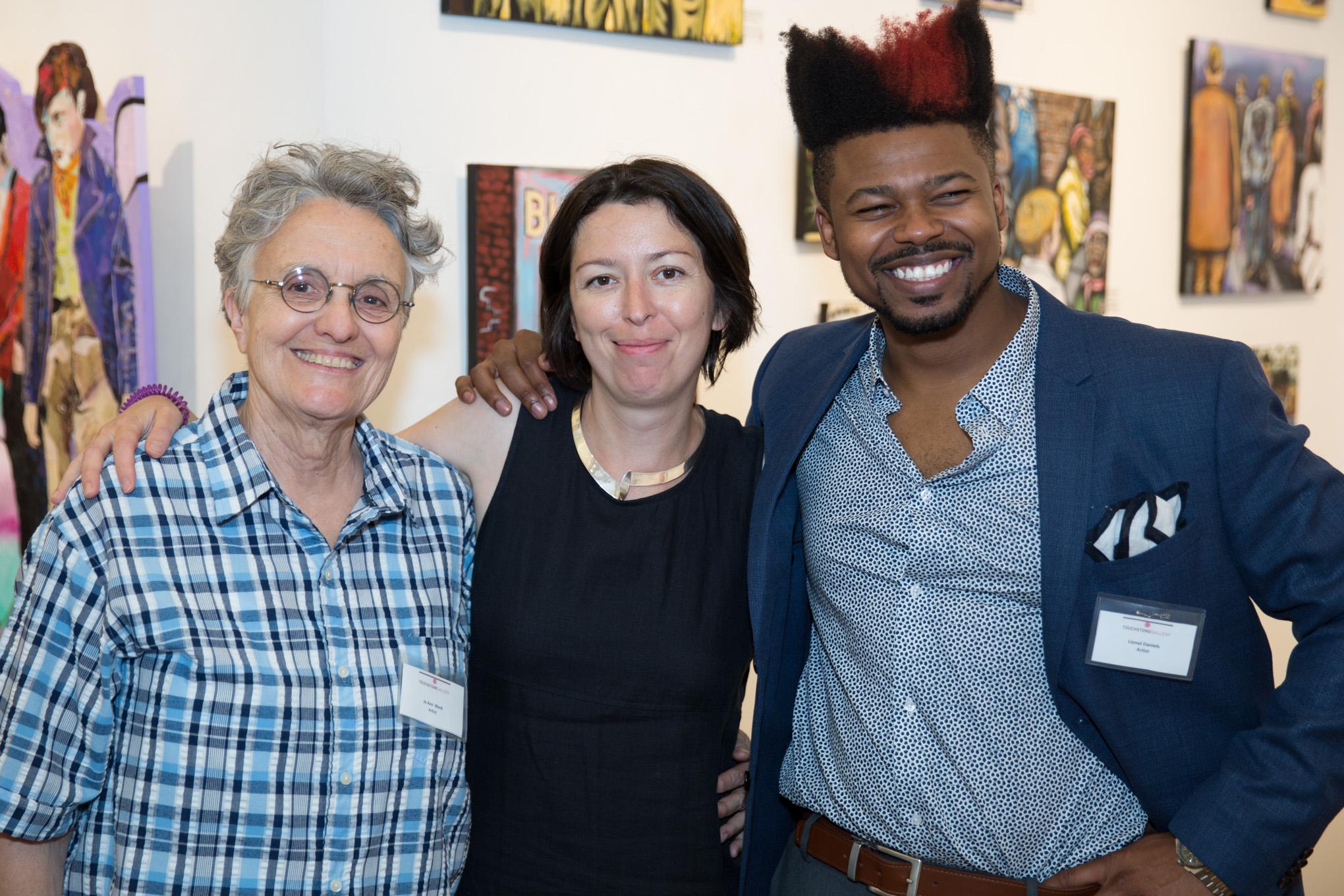 Jo-Ann Block, '15-'17, Ksenia Grishkova, TFA Executive Director and Lionel Daniels, '15-'17