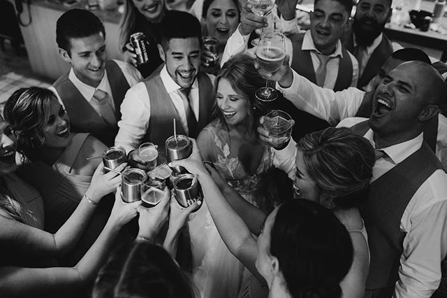 Get yourself a bridal party that celebrates the hell out of you.