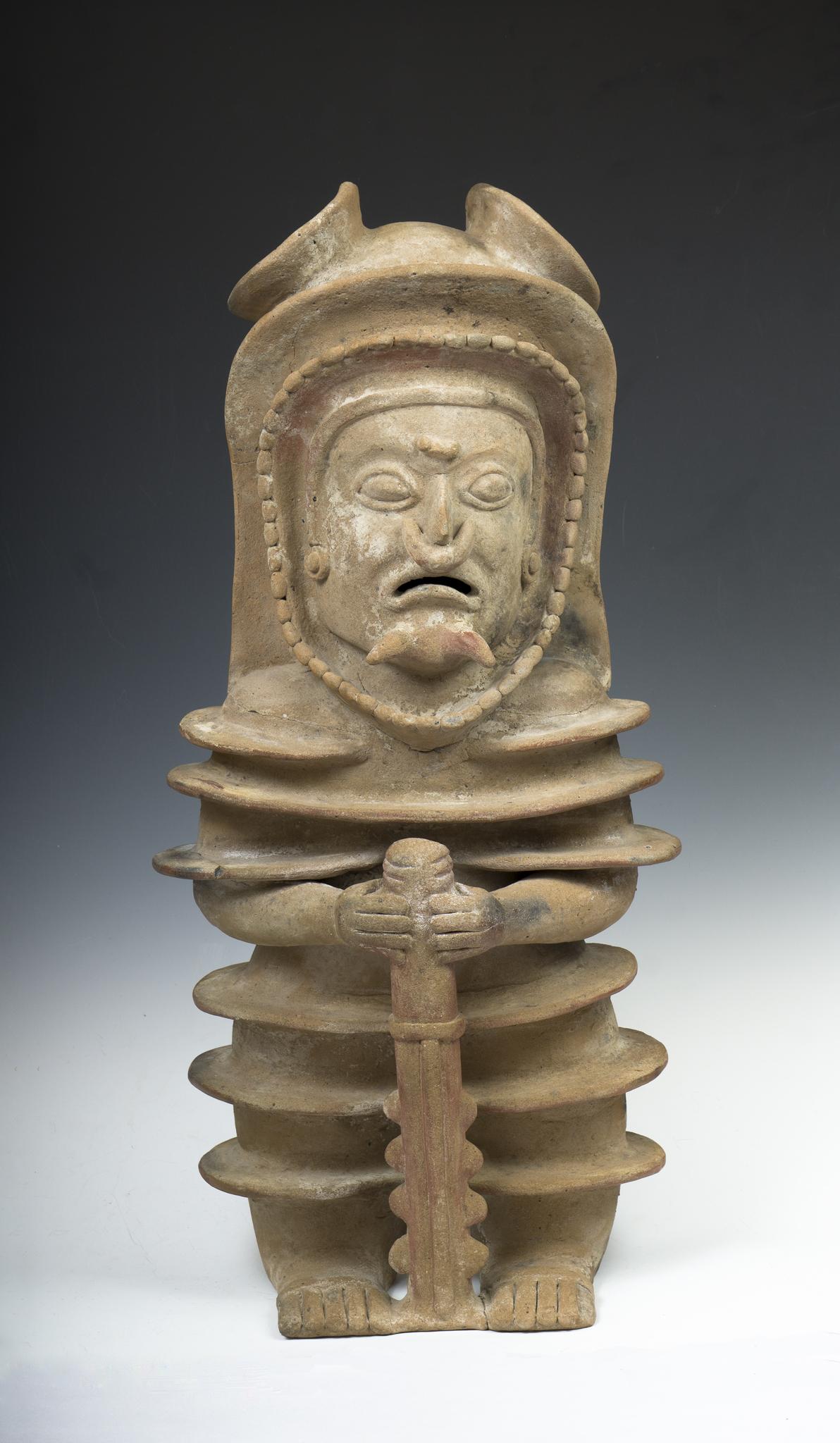 Jama- Coaque Warrior, ca. 300 BC - 600 AD, from Equador.