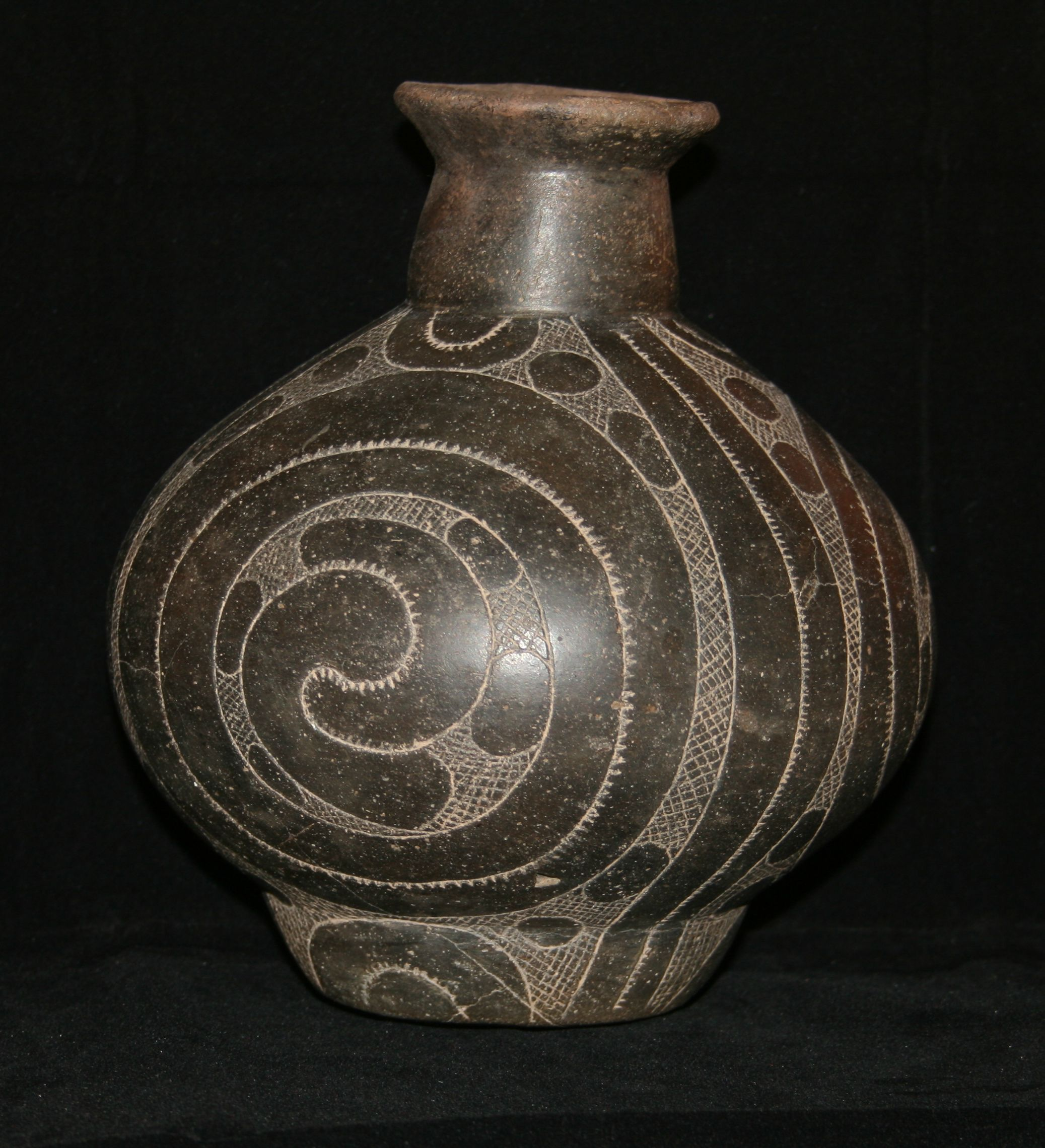 Hodges engraved bottle with proturbant footing. Found by Cleatius Thomas in Hempstead County, Arkansas.
