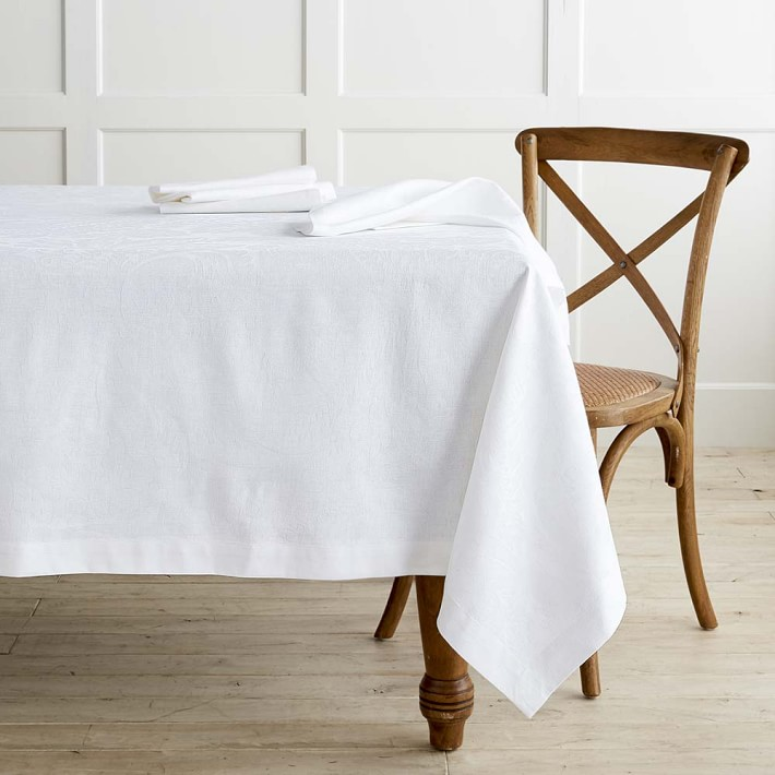 Williams Sonoma Alba Jacquard Tablecloth  |  Runner  |  Napkins