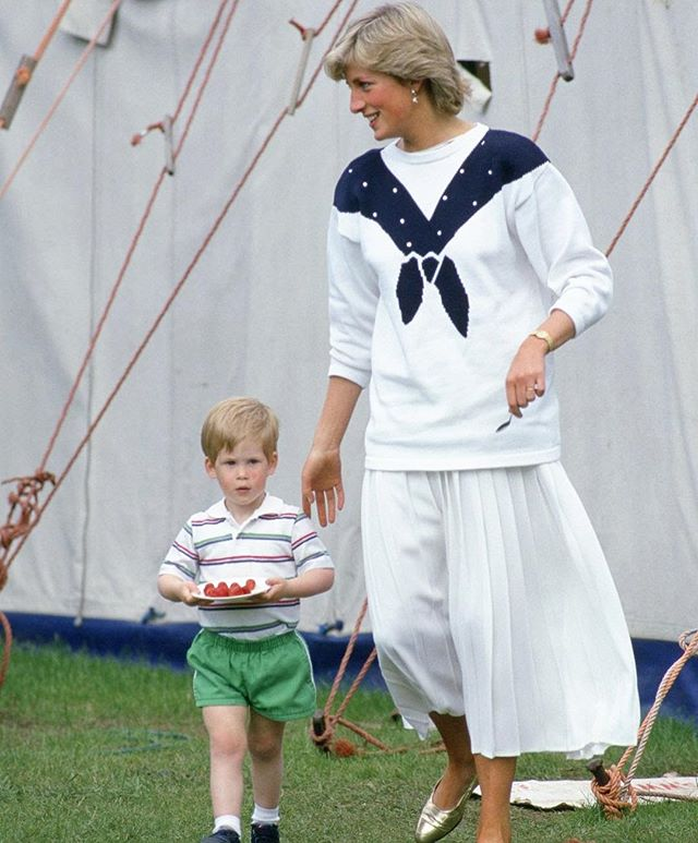 On the eve of the royal wedding, flashing back to the eternally chic Princess Di (and her little groom to be).