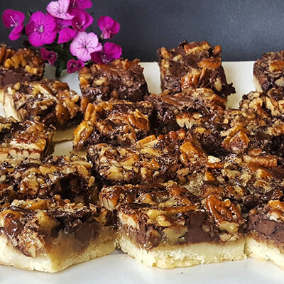 Chocolate Pecan Bars -