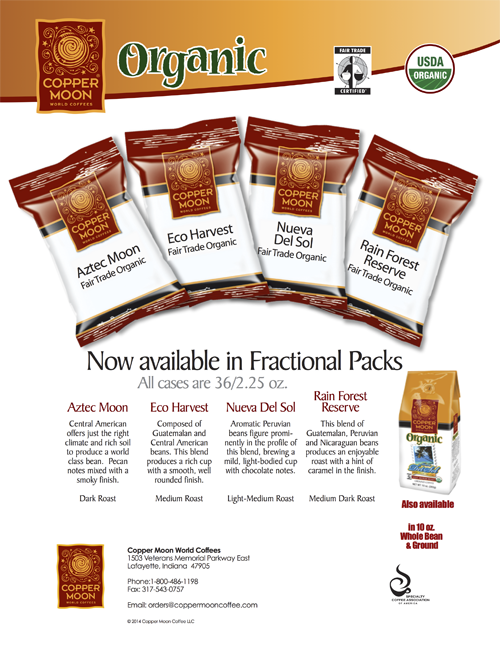 Fractional Pack Coffee – Organic