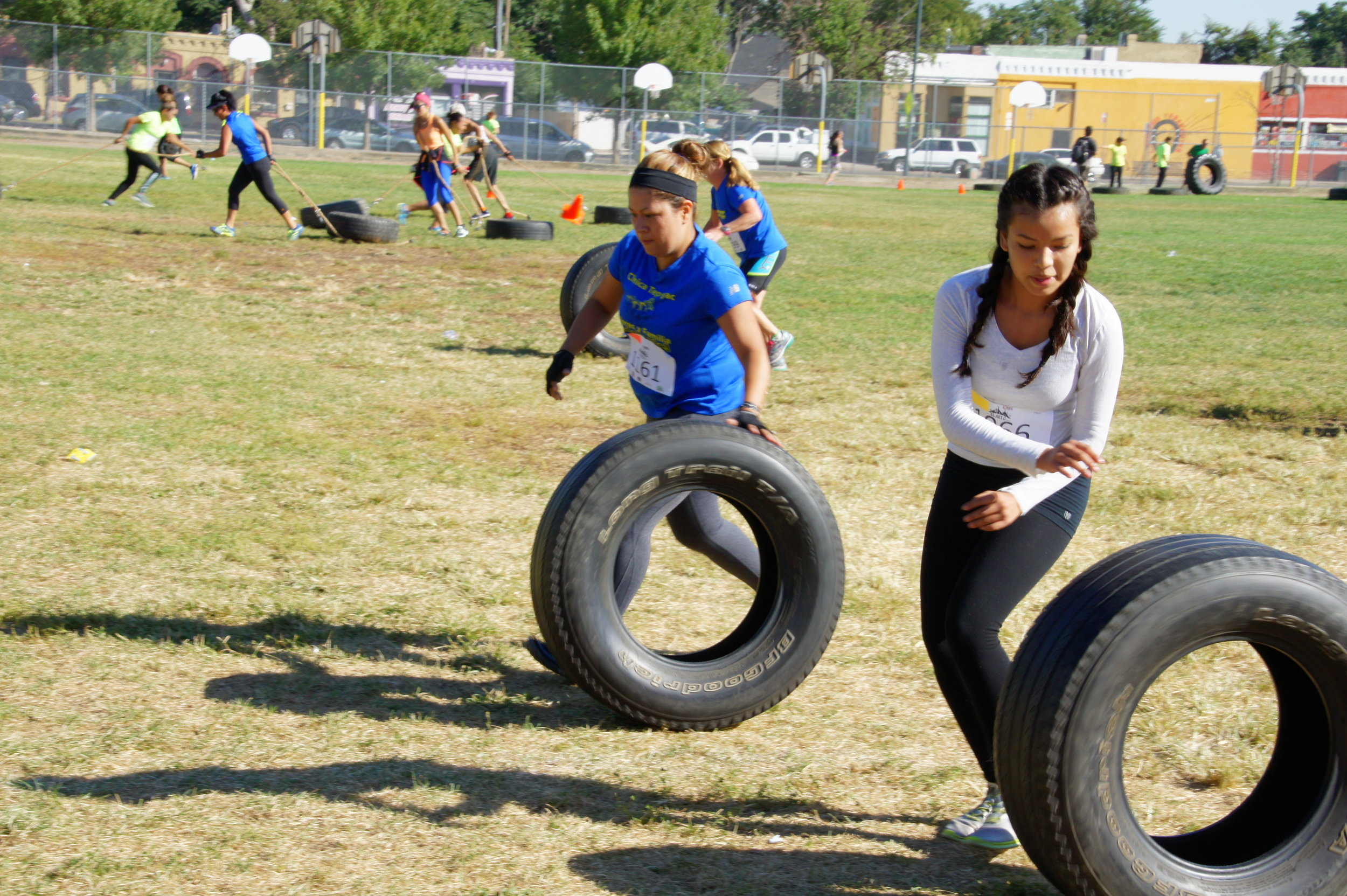 Community event - Obstacle course, tire rolling for prizes